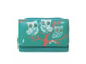 Stredomorská modrá peňaženka pre ženy AG Sovy AGP1045