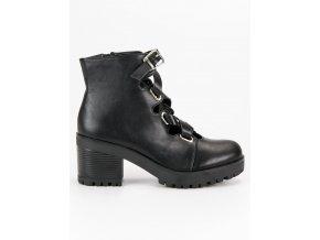 Módne topánky na jeseň čierne