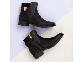 Dámske jesenné topánky čierne STI18-8342B