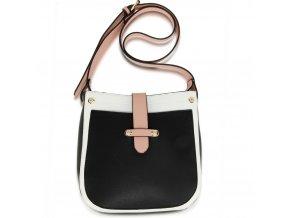 Crossbody kabelka biela / čierna / ružová Kyla AG00684