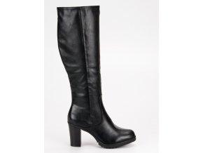 Klasické dámske čižmy čierne HX19-16029B