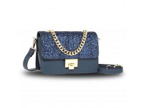 Modrá trblietavá kabelka Ivy AG00716