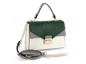 Crossbody kabelka zelená / sivá / biela Anita AG00724