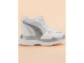 Biele tenisky sneakers s brokátom Vices