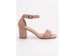 Semišové ružové sandále na stĺpiku Vinceza