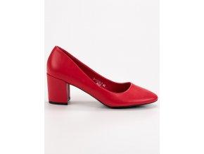 Klasické červené lodičky Ideal Shoes