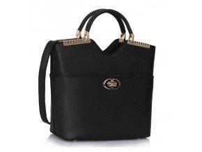 Shopper kabelka do ruky Annabel čierna LS0074A