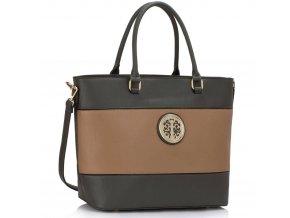 Shopper kabelka do ruky Arline sivá / telová LS00406