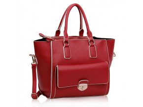Shopper kabelka do ruky Bettina červená LS00225