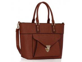 Shopper kabelka do ruky Courtney hnedá LS00181A