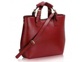Shopper kabelka do ruky Delia bordová LS00267