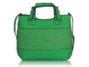 Shopper kabelka do ruky Delia C smaragdová LS00268A