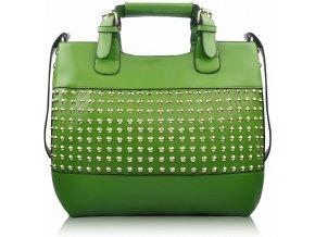 Shopper kabelka do ruky Delia F zelená LS00106 54dcfdbacb9