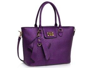 Shopper kabelka do ruky Ginny fialová LS00485
