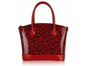 Shopper kabelka do ruky Laurie červená / čierna LS00282