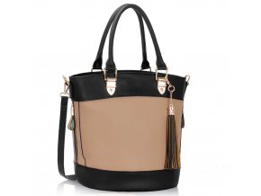 Shopper kabelka do ruky Lexy telová / čierna LS00321