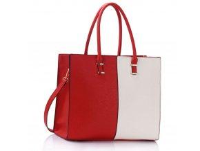 Shopper kabelka do ruky Lois červená / biela LS00319B