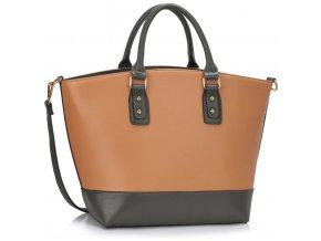 Shopper kabelka do ruky Loran B sivá / telová LS0085B
