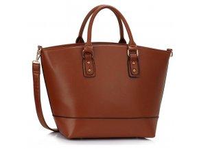 Shopper kabelka do ruky Loran hnedá LS0085