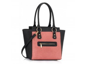 Shopper kabelka do ruky Milly čierna / ružová