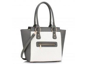 Shopper kabelka do ruky Milly sivá / biela