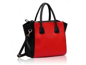 Shopper kabelka do ruky Orrie B čierna / červená LS0061
