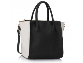 Shopper kabelka do ruky Orrie čierno-biela LS0061A