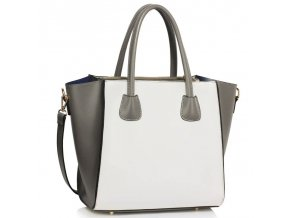 Shopper kabelka do ruky Sandra sivo biela LS0061B