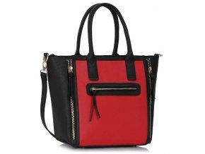 Shopper kabelka do ruky Selina čierna / červená LS00133