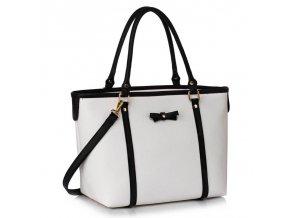 Shopper kabelka Mariette čierna / biela LS00507