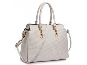 Trendová kabelka do ruky Adele biela LS00418A
