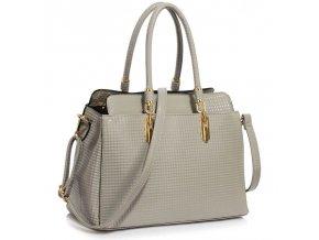 Trendová kabelka do ruky Adele sivá LS00418A