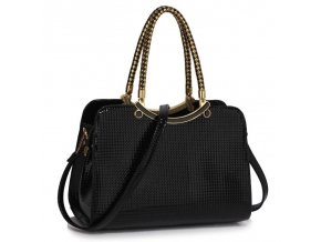 Trendová kabelka do ruky Cory čierna LS00395a