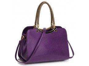 Trendová kabelka do ruky Cory fialová LS00395a