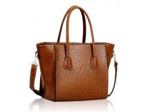 Trendová kabelka do ruky Freda hnedá LS00234