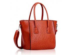 Trendová kabelka do ruky Freda oranžová LS00234