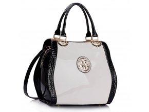 Trendová kabelka do ruky Lena čierna / biela LS00380
