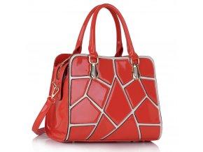 Trendová kabelka do ruky Ness korálová LS00296