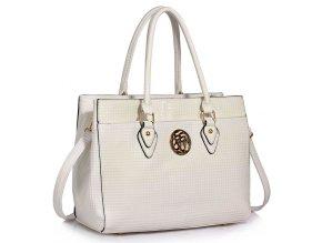 Trendová kabelka do ruky Rickie biela LS00511