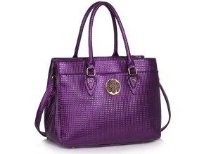 Trendová kabelka do ruky Rickie fialová LS00511