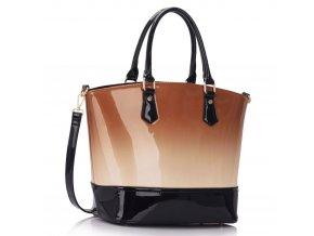 Trendová shopper kabelka do ruky Nabby telová LS0039A