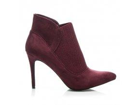 Červené topánky na vysokom opätku A986-19R /S1-57P (Veľkosť UK6 / EUR 39)