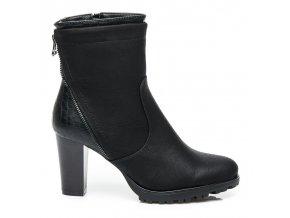 Čierne elegantné topánky 58834B / S1-32P veľ.č. 40, 41 (Veľkosť UK8 / EUR 41)