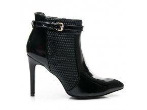 Čierne topánky na vysokom opätku L900B / S3-20P veľ.č. 39 (Veľkosť UK6 / EUR 39)