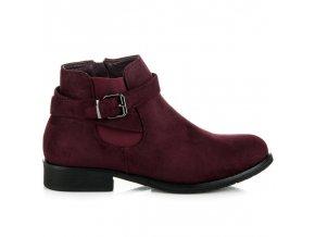 Dámske semišové topánky s prackou jh276wi veľ.č. 40 (Veľkosť 42)