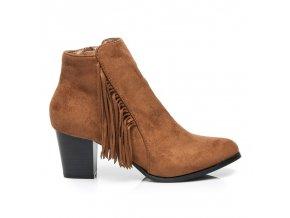 Hnedé topánky BOHO PN1523C / S1-30P semišové veľ.č. 39 (Veľkosť UK6 / EUR 39)