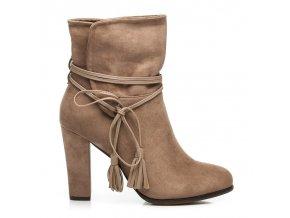 Semišové topánky BOHO 1100-14BE veľ.č. 37 (Veľkosť 42)
