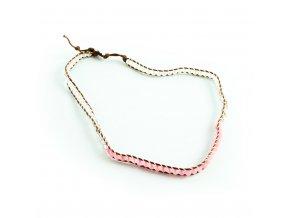 Ružový náhrdelník s guličkami