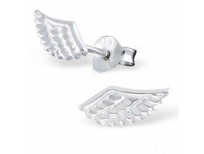 Strieborné náušnice krídla - 925 MS16185