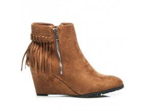 Semišové topánky so strapcami 100-483C /S3-131P veľ.č. 41 (Veľkosť UK8 / EUR 41)